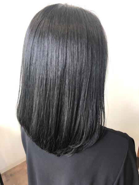 大分県別府市 髪の毛が明るくなりやすい方にオススメの黒っぽいヘアカラー【暗めダークグレー】 アフター