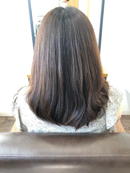 大分県別府市 oggiotto(オッジィオット)トリートメントで艶髪カラー!【透明感のあるベージュのヘアカラー】 ビフォー