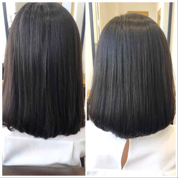 大分県別府市 くせ毛の悩みは艶髪ストカールで解決!ワンカールボブスタイル ビフォーアフター
