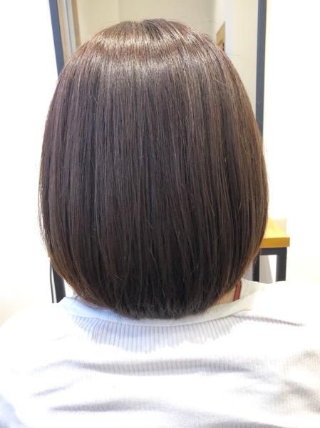 大分県別府市 秋にオススメのヘアカラー! 暗めラベンダーブラウンの髪色 アフター