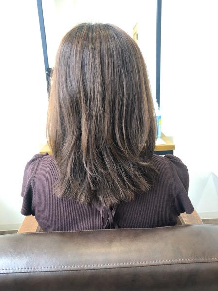 大分県別府市 色落ちしても黄色っぽい髪になりにくい ラベンダーベージュのヘアカラー ビフォー