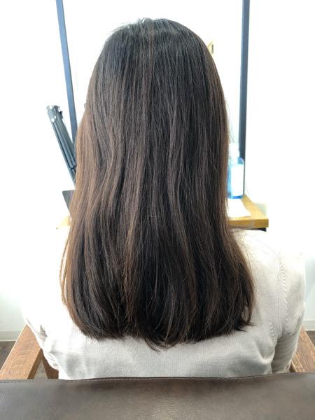 大分県別府市 暗めでも透明感のある【ダークグレージュ】の髪色【色落ちしにくいヘアカラー】 ビフォー