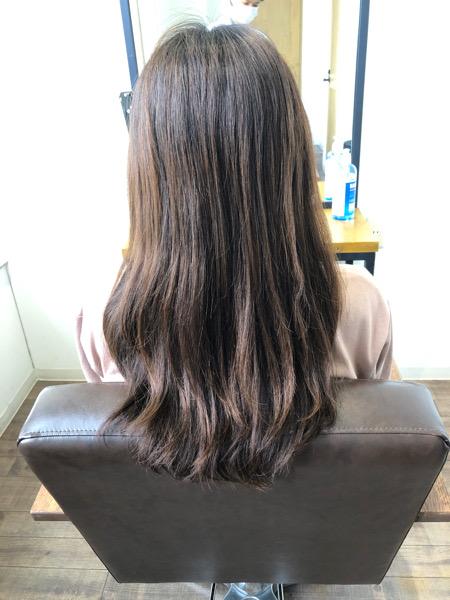 大分県別府市 ラベンダーアッシュの秋髪カラー【オッジィオット取り扱い】 ビフォー