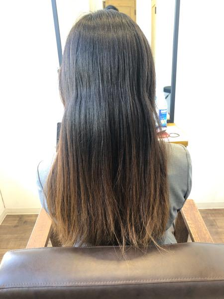 大分県別府市 【大分 別府】今までとは違う弱酸性の縮毛矯正でトリートメントをしたような髪の毛へ ビフォー
