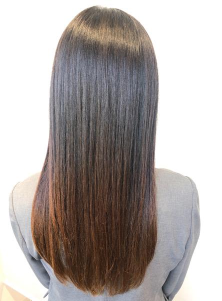 大分県別府市 今までとは違う弱酸性の縮毛矯正でトリートメントをしたような髪の毛へ アフター