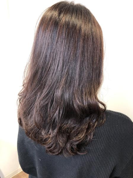大分県別府市 オッジィオットトリートメントを使ったラベンダーアッシュの艶髪カラー【ブリーチなし】 アフター
