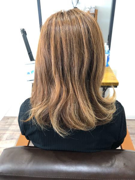 大分県別府市 新メニュー 弱酸性ストレートを使ってブリーチ毛の縮毛矯正 ビフォー