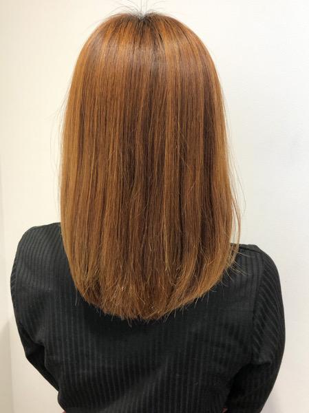 大分県別府市 新メニュー 弱酸性ストレートを使ってブリーチ毛の縮毛矯正 アフター