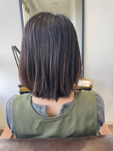 大分県別府市 弱酸性の縮毛矯正で自然な仕上がりのストレートスタイル ビフォー