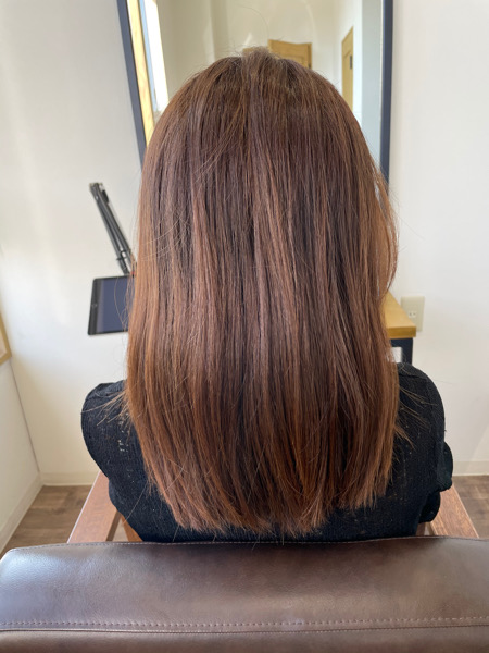 大分県別府市 弱酸性の縮毛矯正とオッジィオットトリートメントでサラサラなツヤ髪 ビフォー