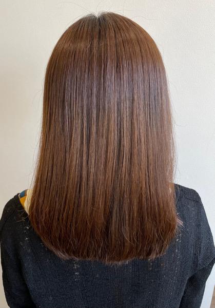 大分県別府市 弱酸性の縮毛矯正とオッジィオットトリートメントでサラサラなツヤ髪 アフター
