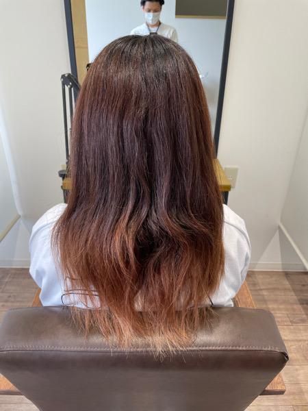 大分県別府市 髪質改善のサラサラな縮毛矯正ストレート ビフォー