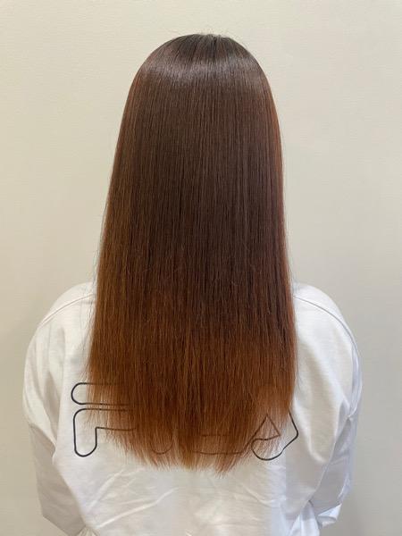 大分県別府市 髪質改善のサラサラな縮毛矯正ストレート アフター