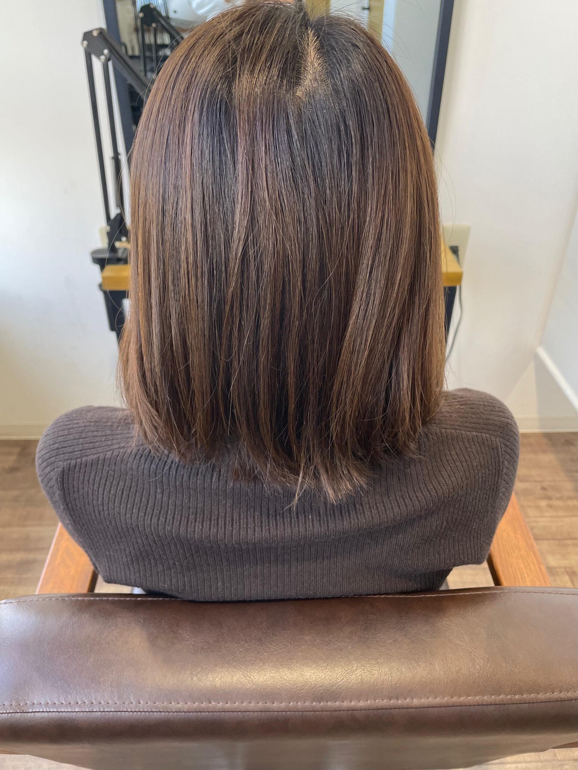 大分県別府市 髪質改善 お試し中の艶髪カラー&トリートメント ビフォー