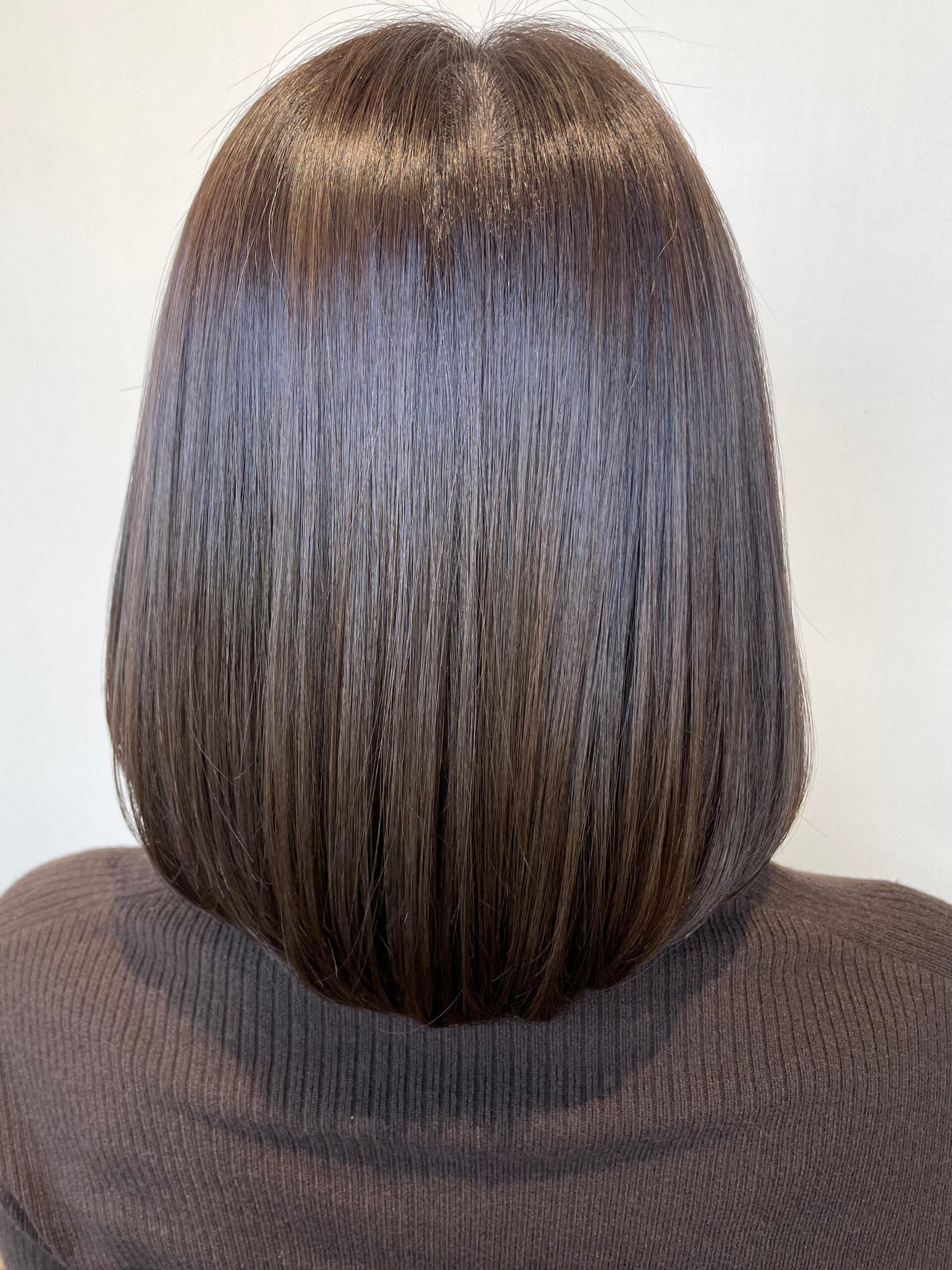 大分県別府市 髪質改善 お試し中の艶髪カラー&トリートメント アフター