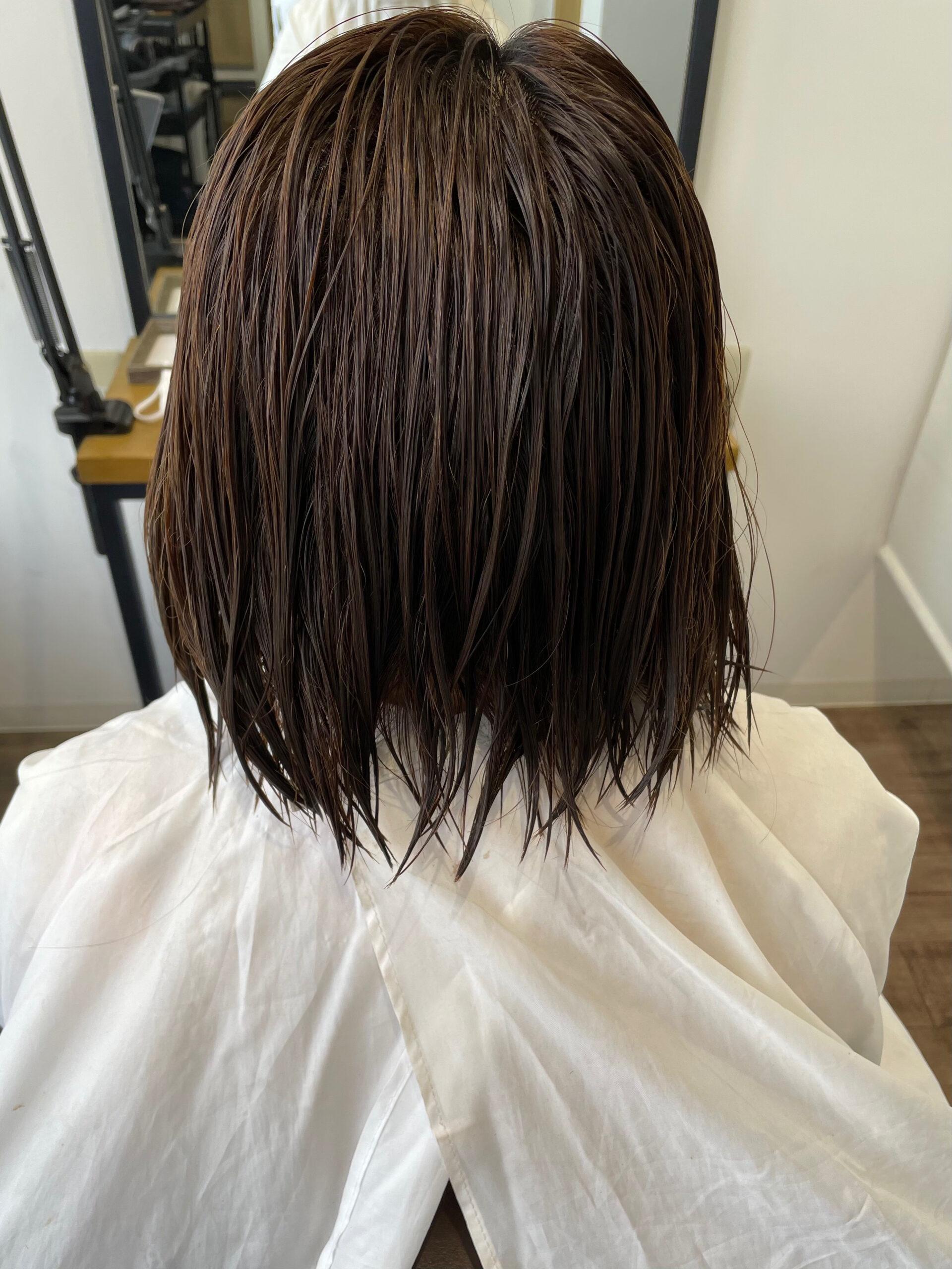 大分県別府市 ツヤツヤになる髪質改善のトリートメントメニューをお試し中 ビフォー