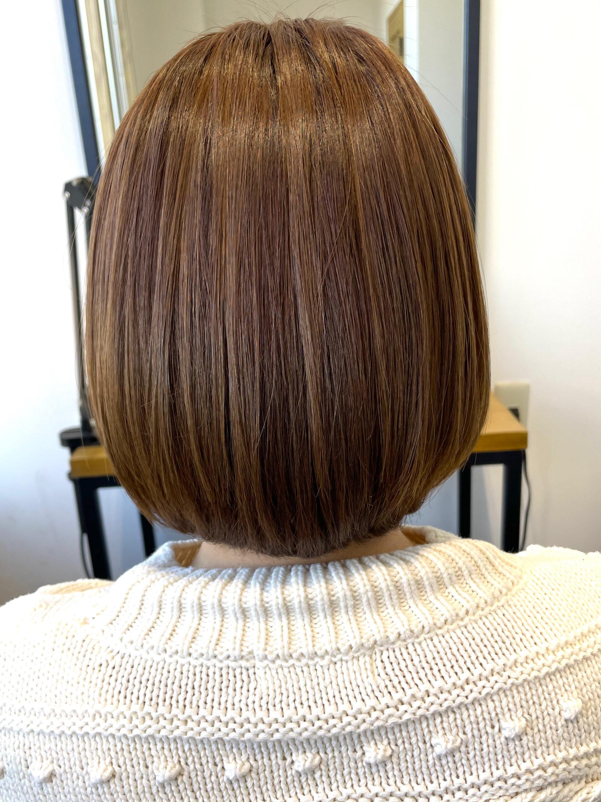 大分県別府市 ツヤツヤになる髪質改善のトリートメントメニューをお試し中 アフター