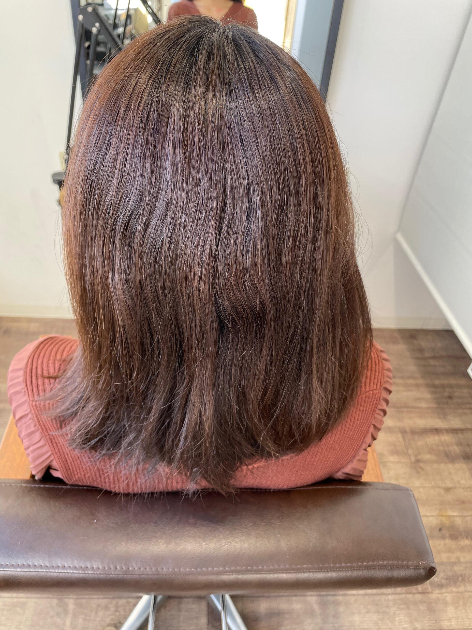 大分県別府市 髪質改善 新たなトリートメント&カラーの組み合わせでスペシャルケアの艶髪カラー ビフォー