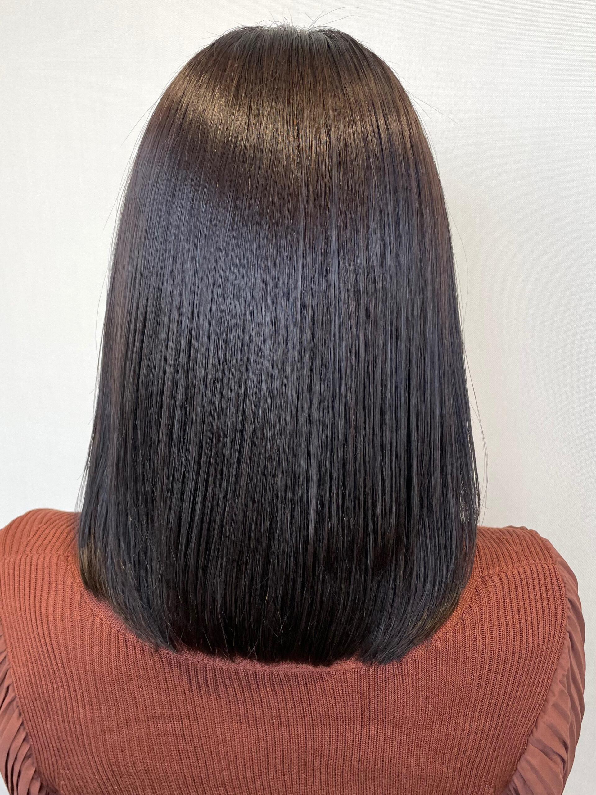 大分県別府市 髪質改善 新たなトリートメント&カラーの組み合わせでスペシャルケアの艶髪カラー アフター