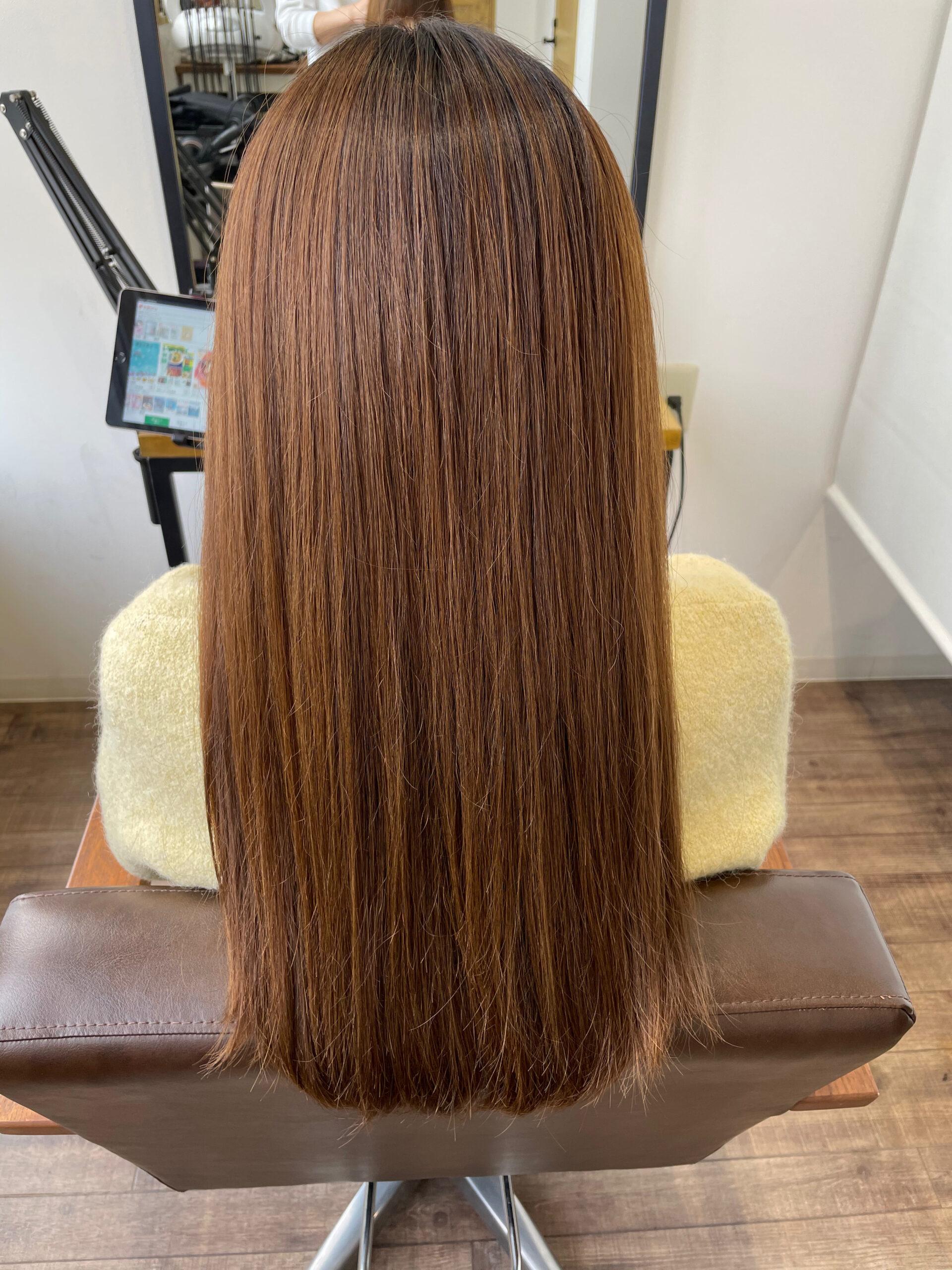 大分県別府市 髪質改善 カラー&トリートメントでツヤツヤな髪の毛 ビフォー