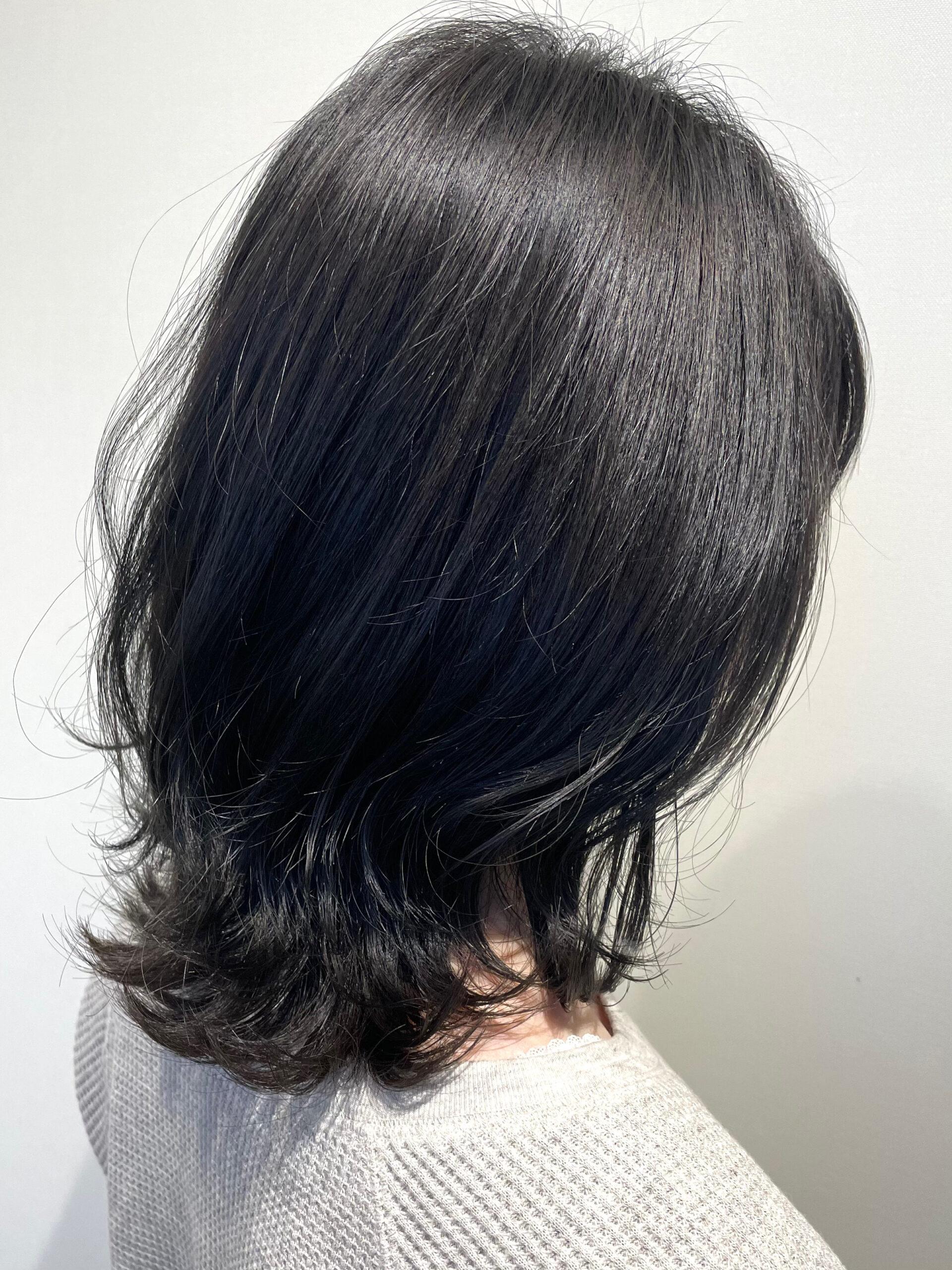 大分県別府市 真っ黒は嫌だけど暗めの髪色にしたい方にオススメ『暗めダークアッシュ』 アフター