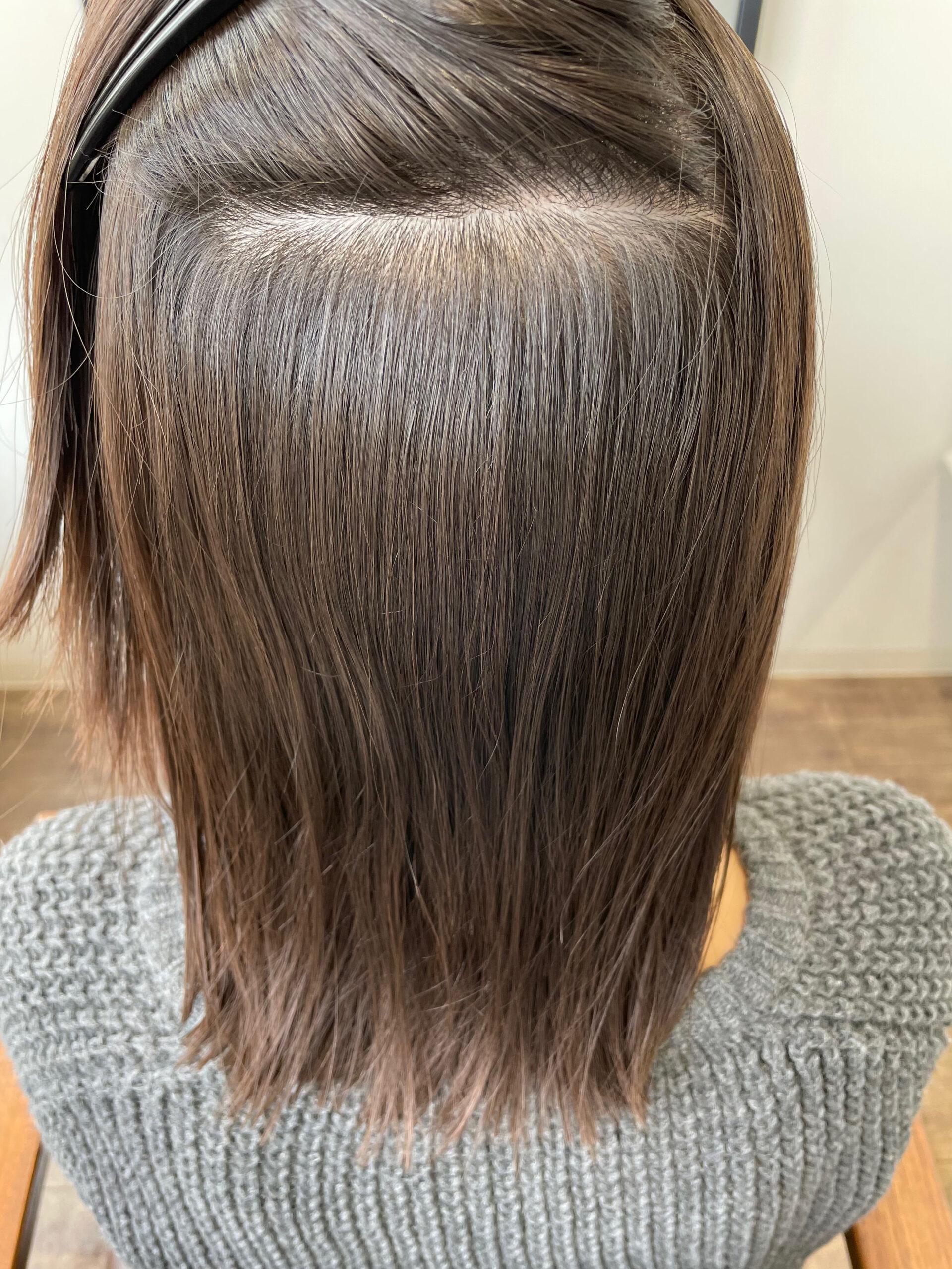 大分県別府市 弱酸性の縮毛矯正でツヤツヤ、サラサラのストレートヘア アフター