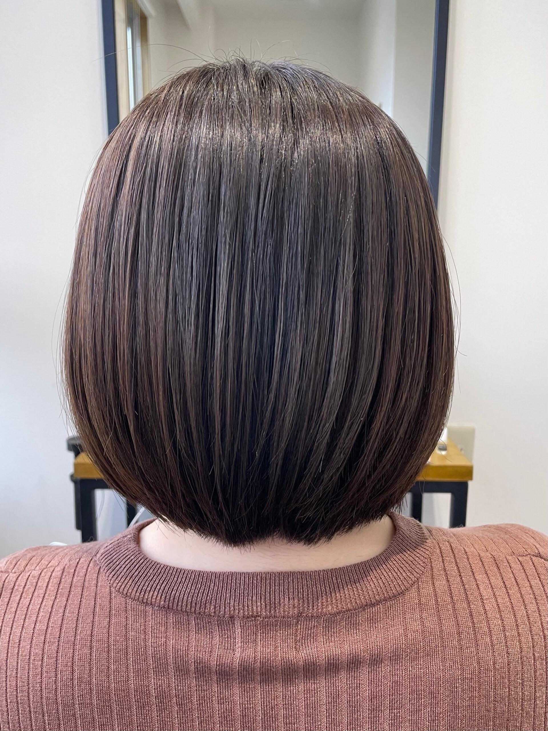 大分県別府市 ツヤ髪になりたい方は弱酸性ストレートとケアカラーの組み合わせが最強です! アフター