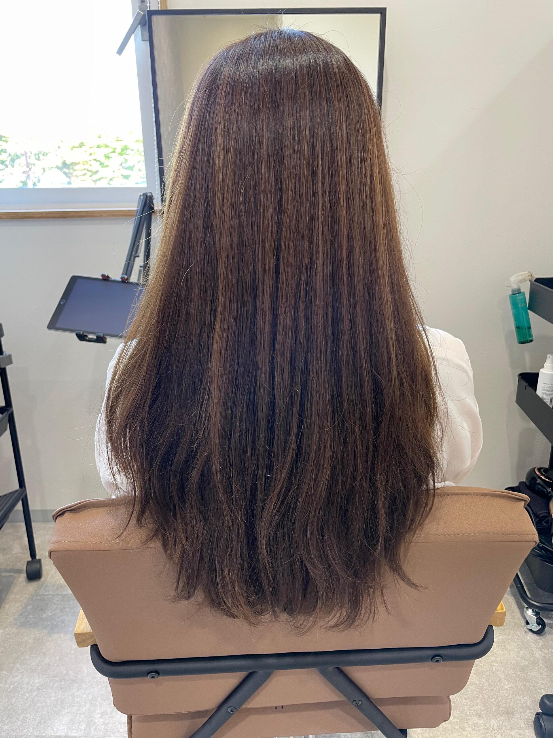 大分県別府市 髪質改善トリートメント&カラー【お試し中メニュー】 ビフォー