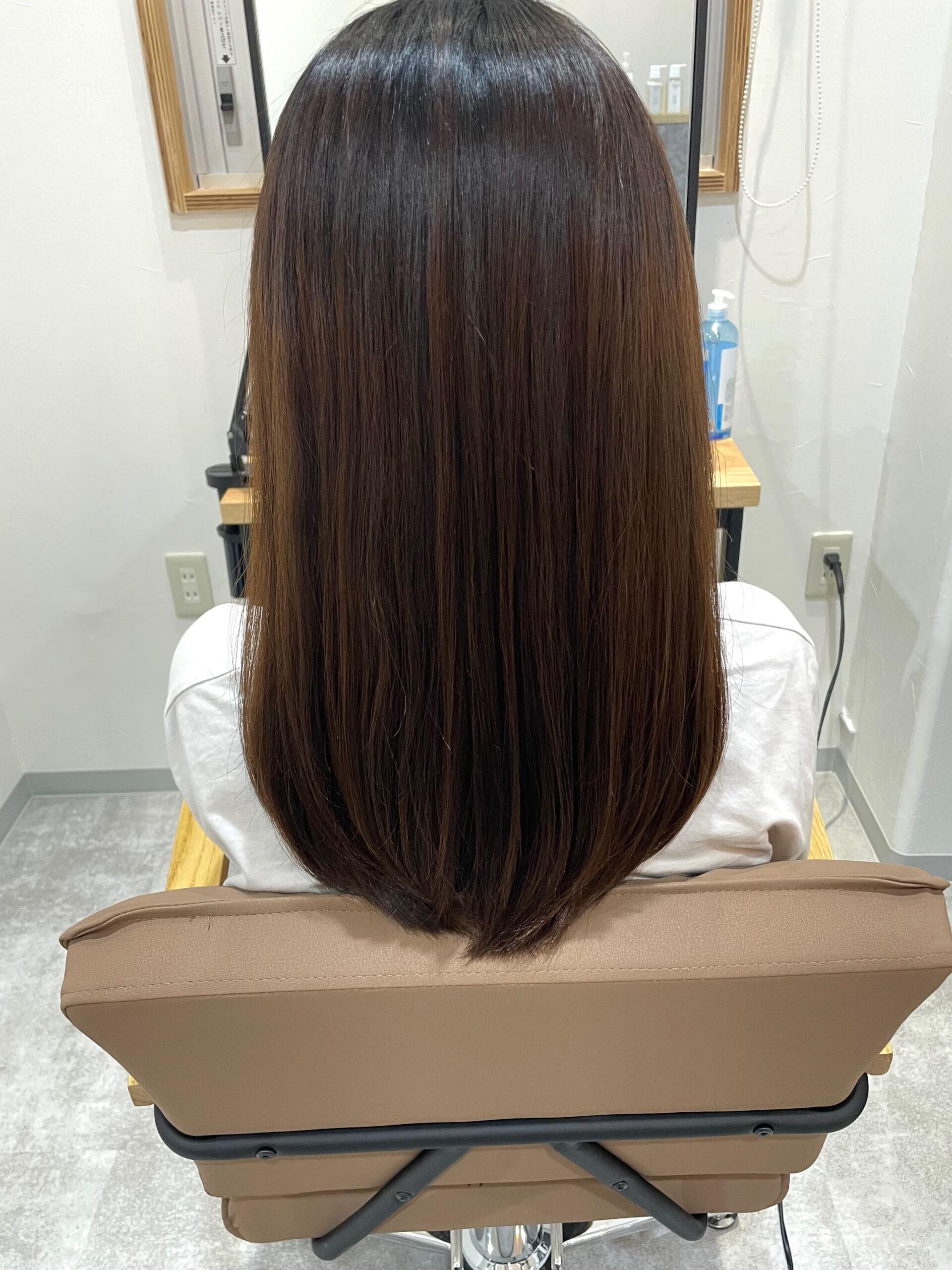 大分県別府市 くせ毛でもツヤツヤになれる艶髪縮毛矯正 アフター