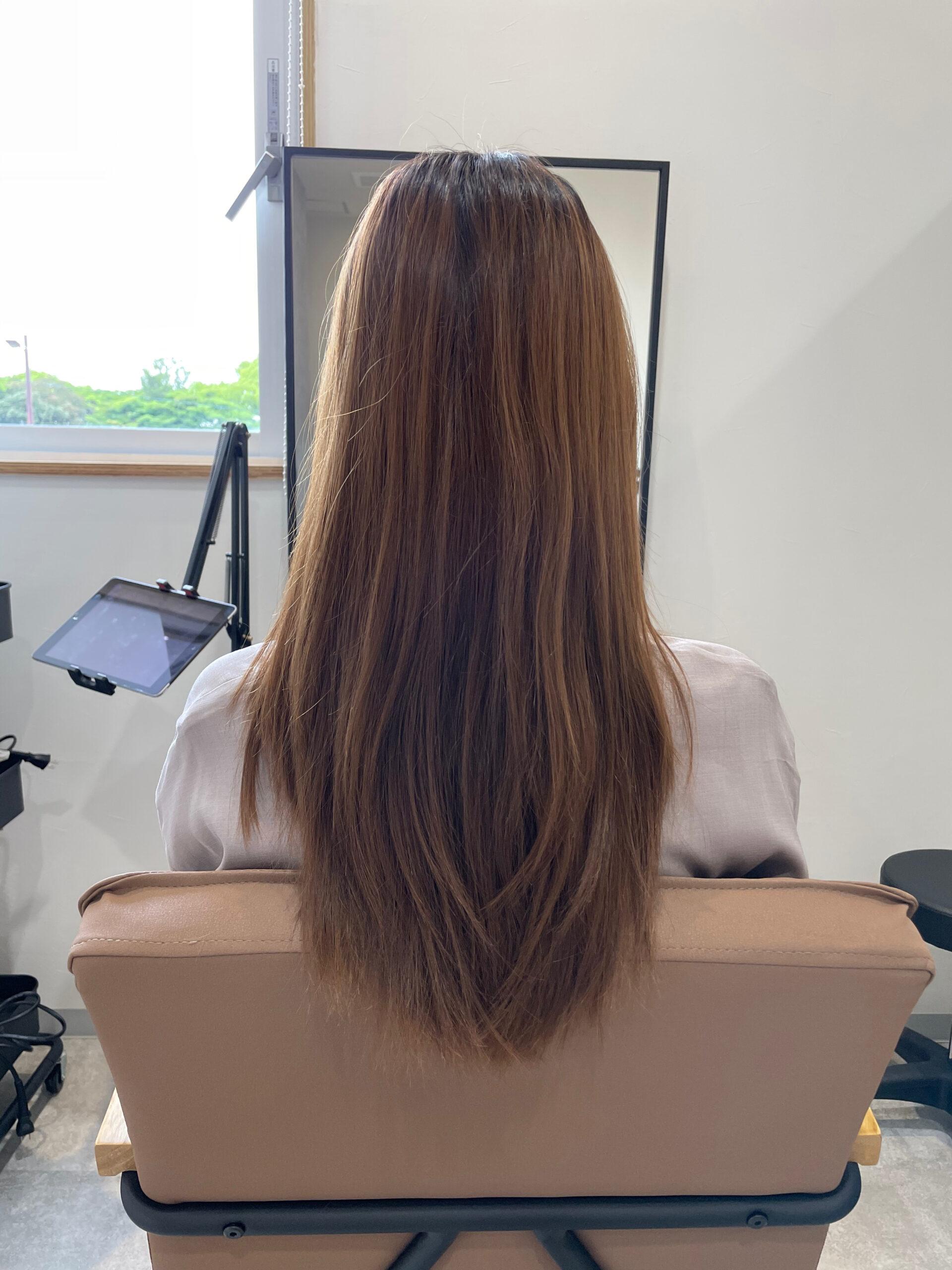 大分県別府市 髪質改善トリートメントでツヤツヤなヘアカラー ビフォー