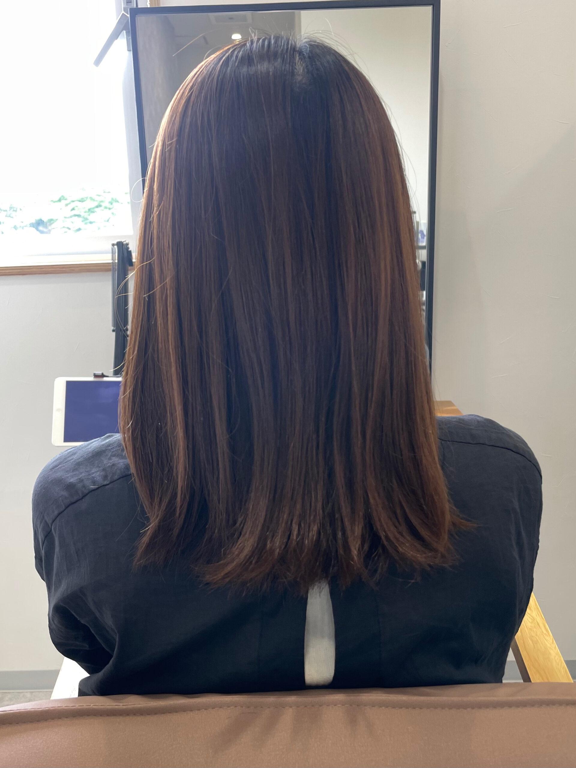 大分県別府市 髪質改善カラーお試し中です! ビフォー
