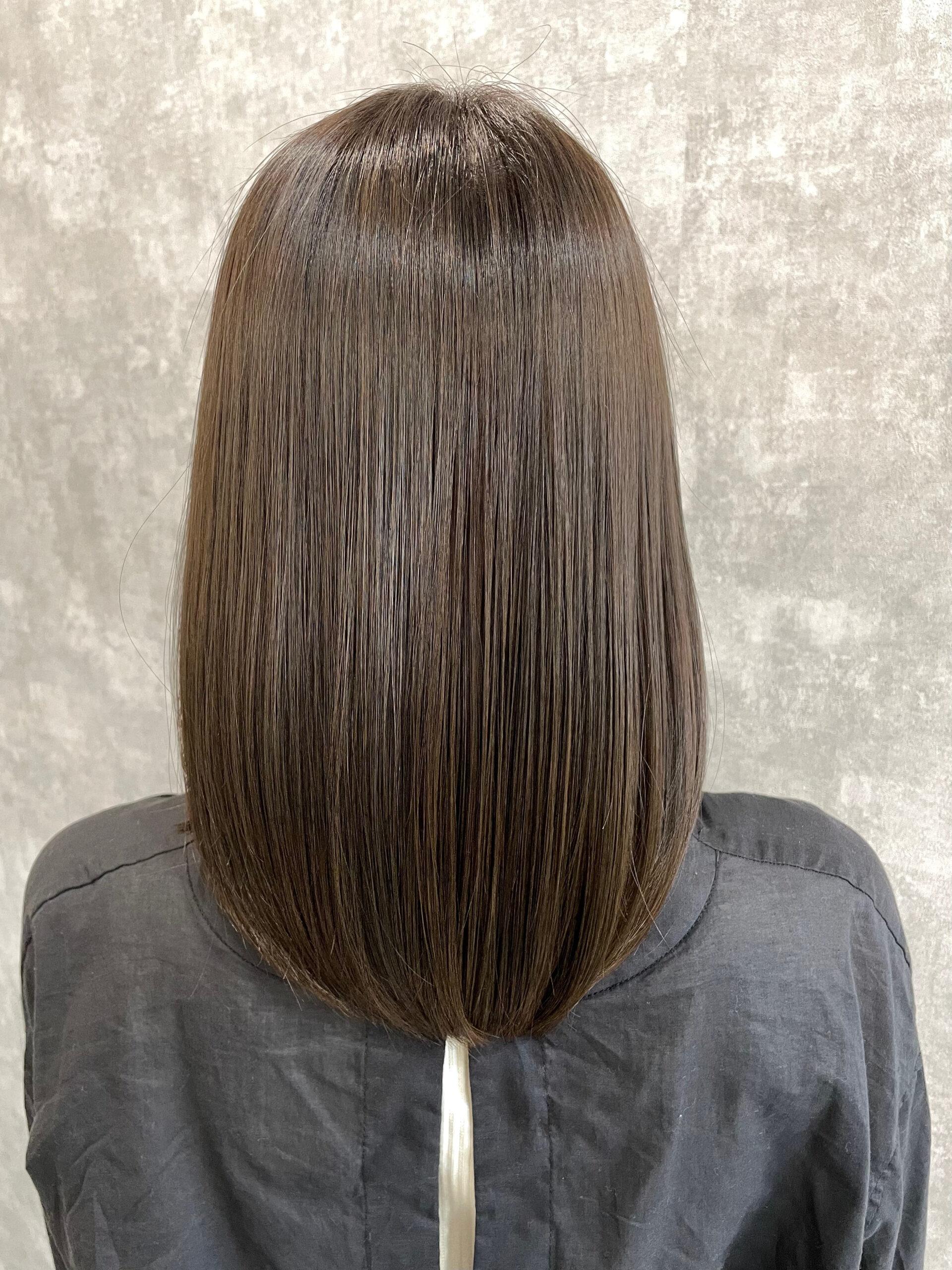 大分県別府市 髪質改善カラーお試し中です! アフター