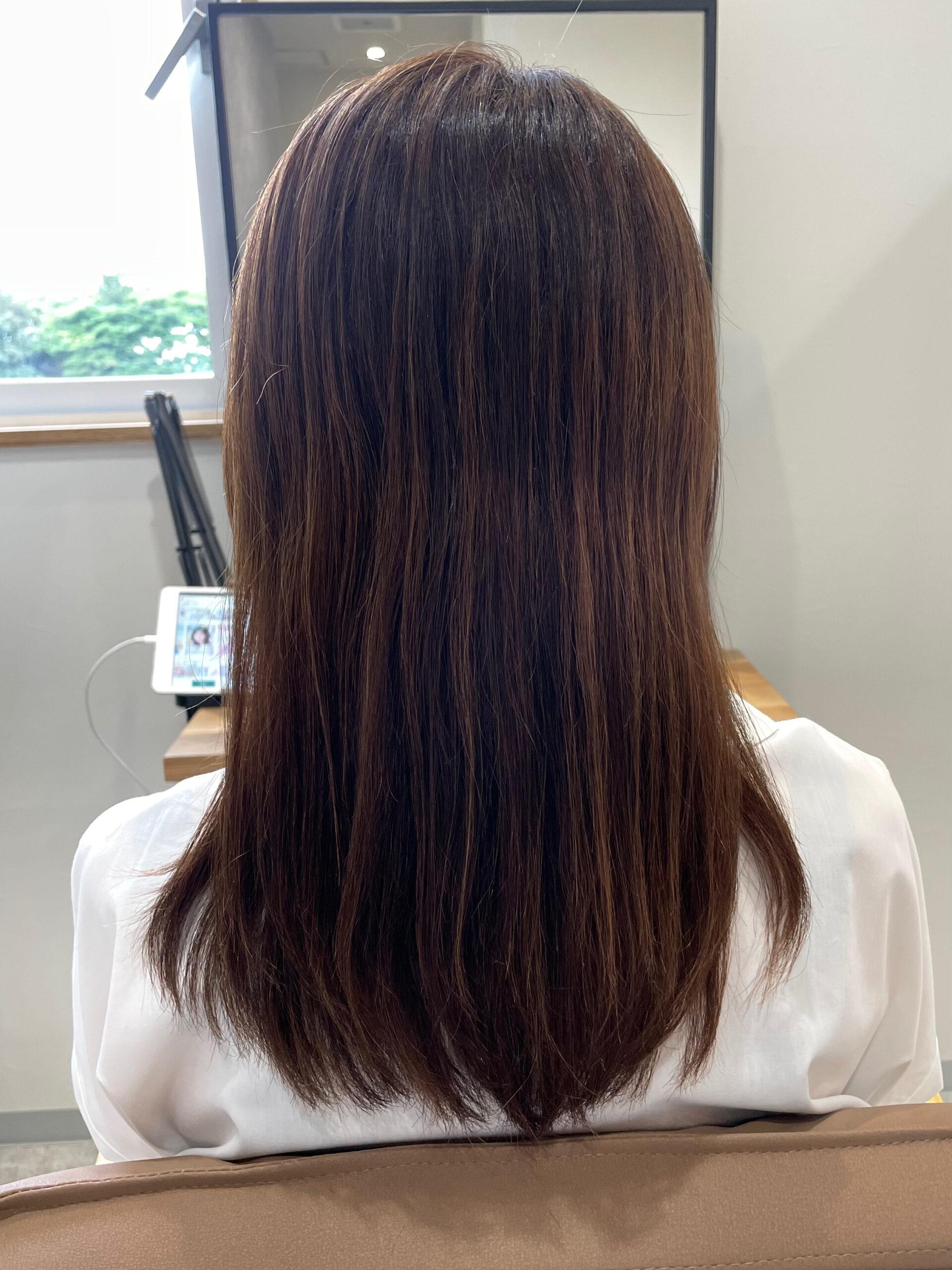 大分県別府市 ツヤツヤになれる髪質改善カラー ビフォー