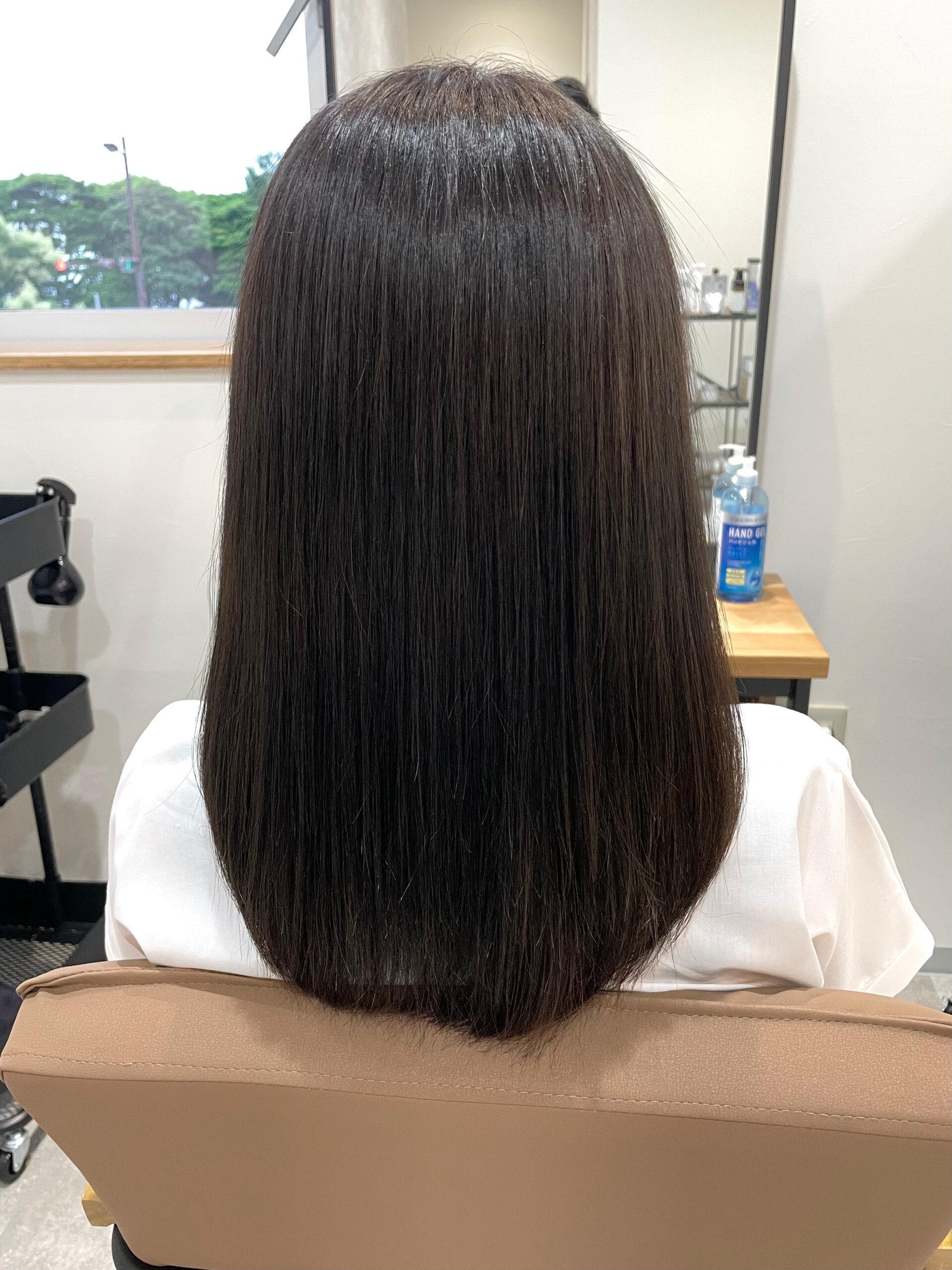 大分県別府市 ツヤツヤになれる髪質改善カラー アフター