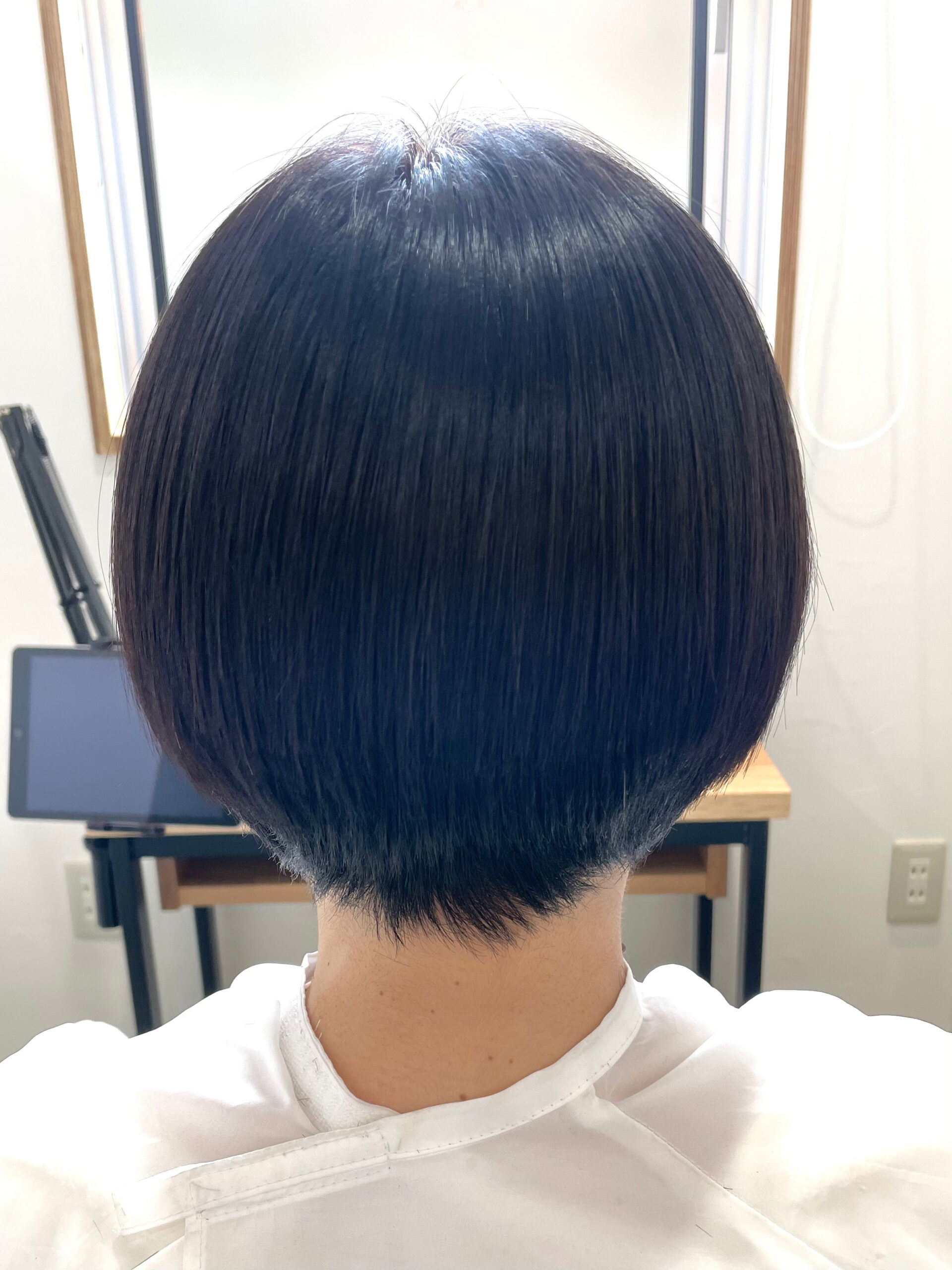 大分県別府市 ショートヘアの縮毛矯正は丸みが出ます! アフター