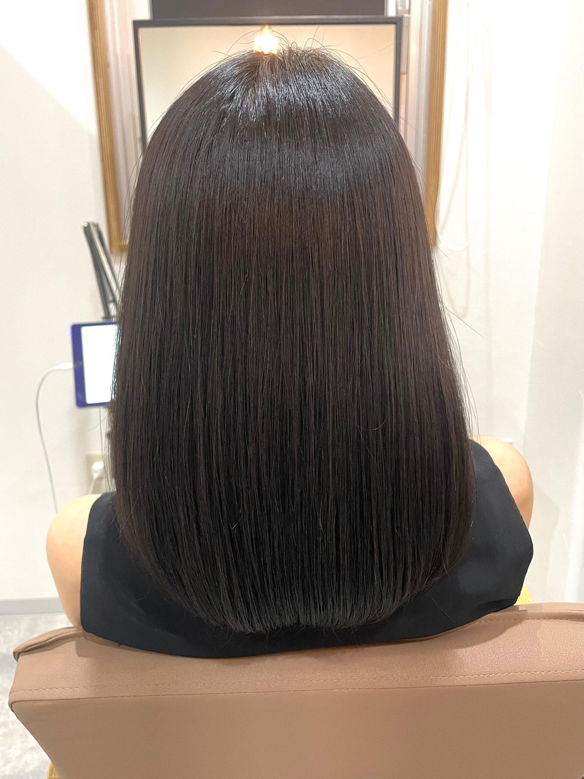 大分県別府市 髪質改善カラートリートメント アフター