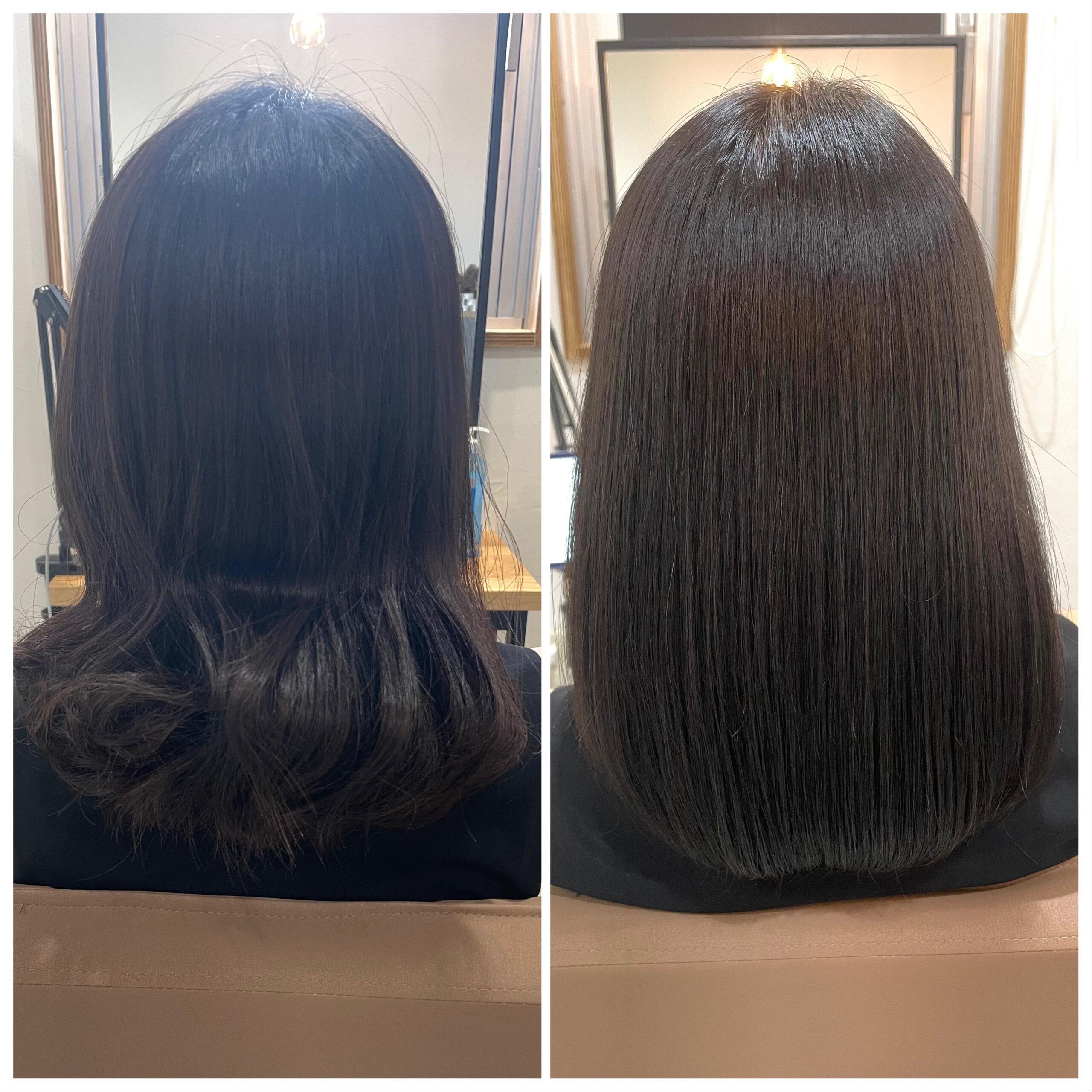 大分県別府市 髪質改善カラートリートメント ビフォーアフター
