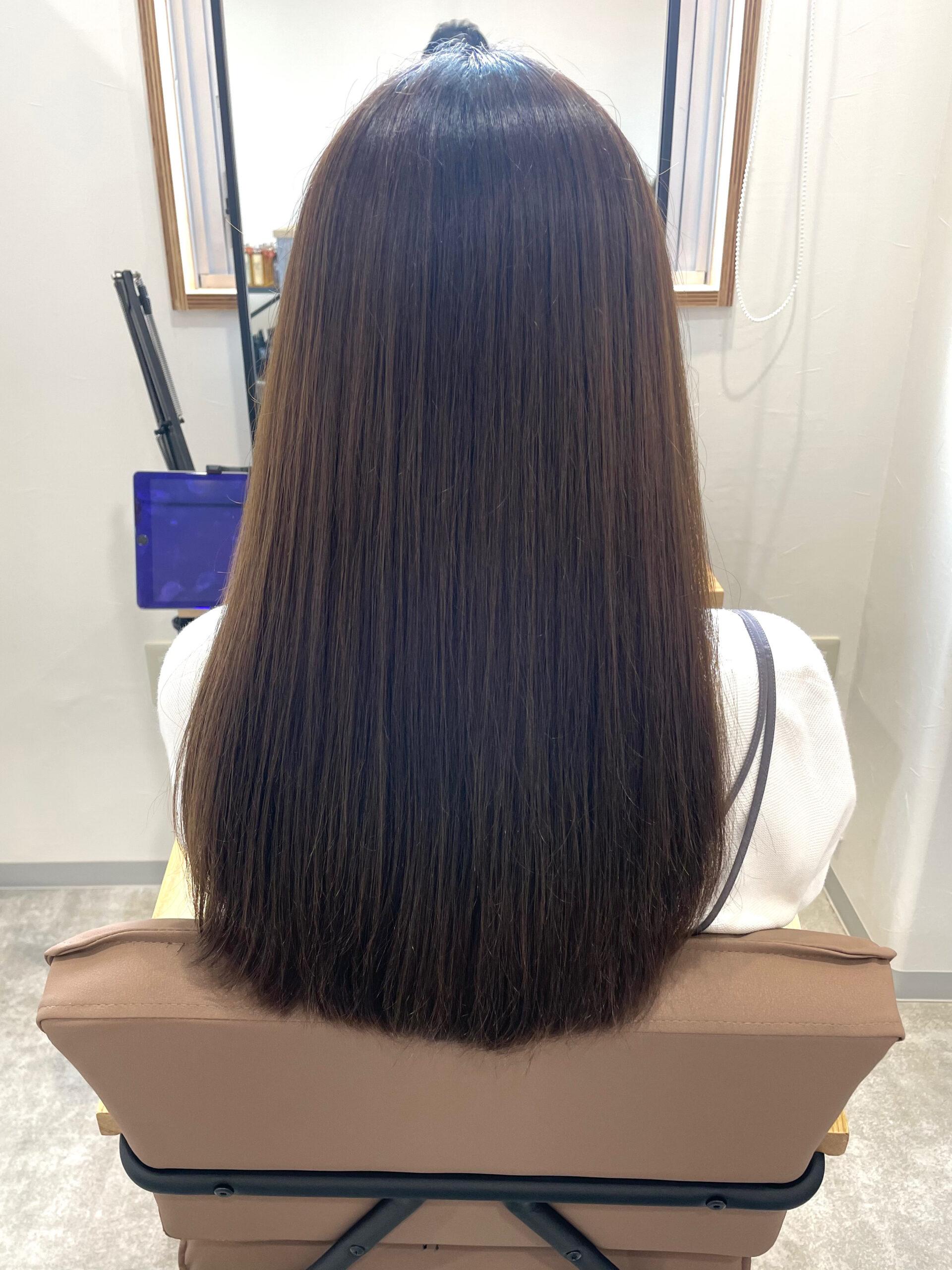 大分県別府市 髪質改善トリートメントを繰り返してさらに上質な艶髪カラー ビフォー