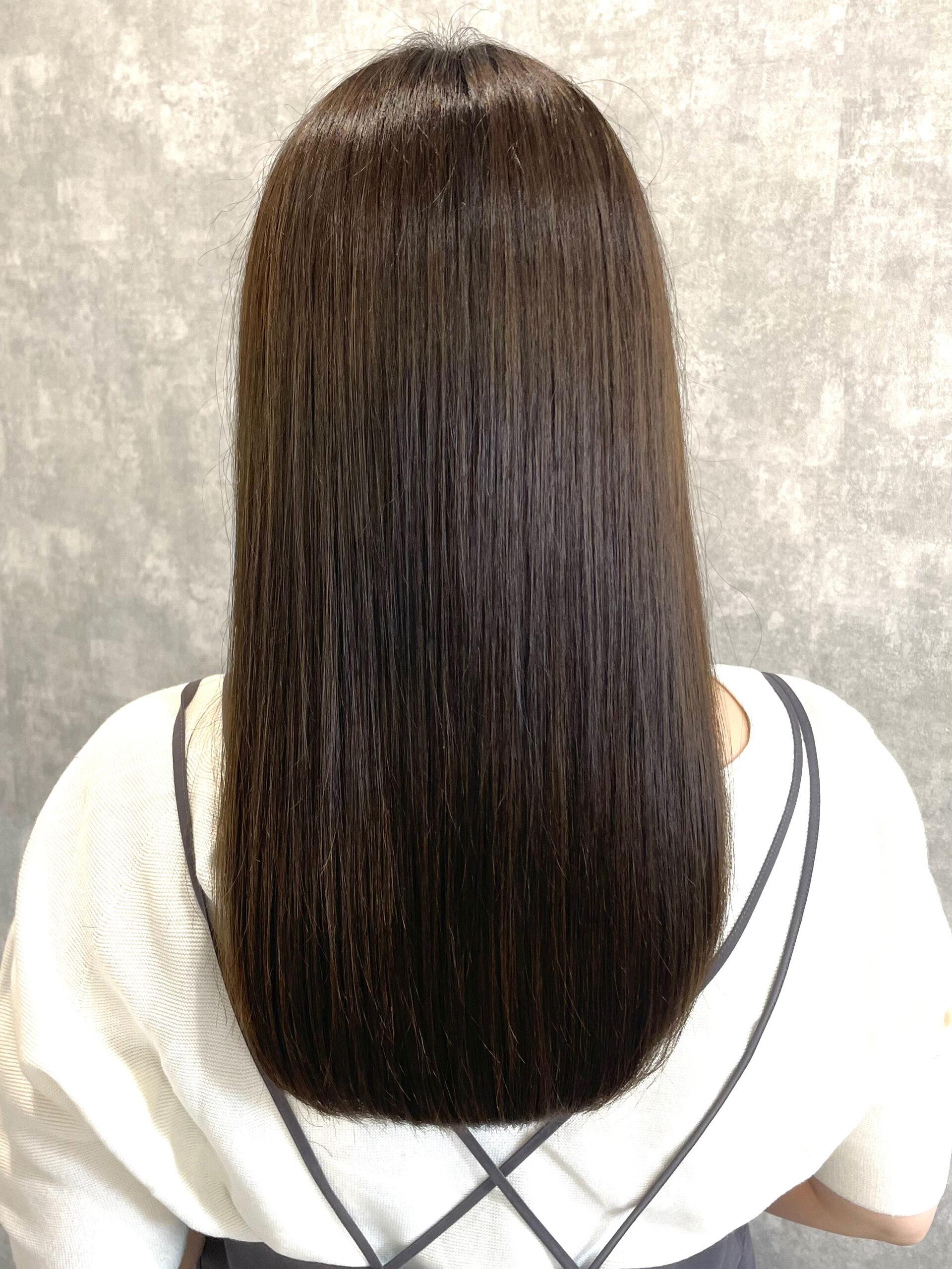 大分県別府市 髪質改善トリートメントを繰り返してさらに上質な艶髪カラー アフター