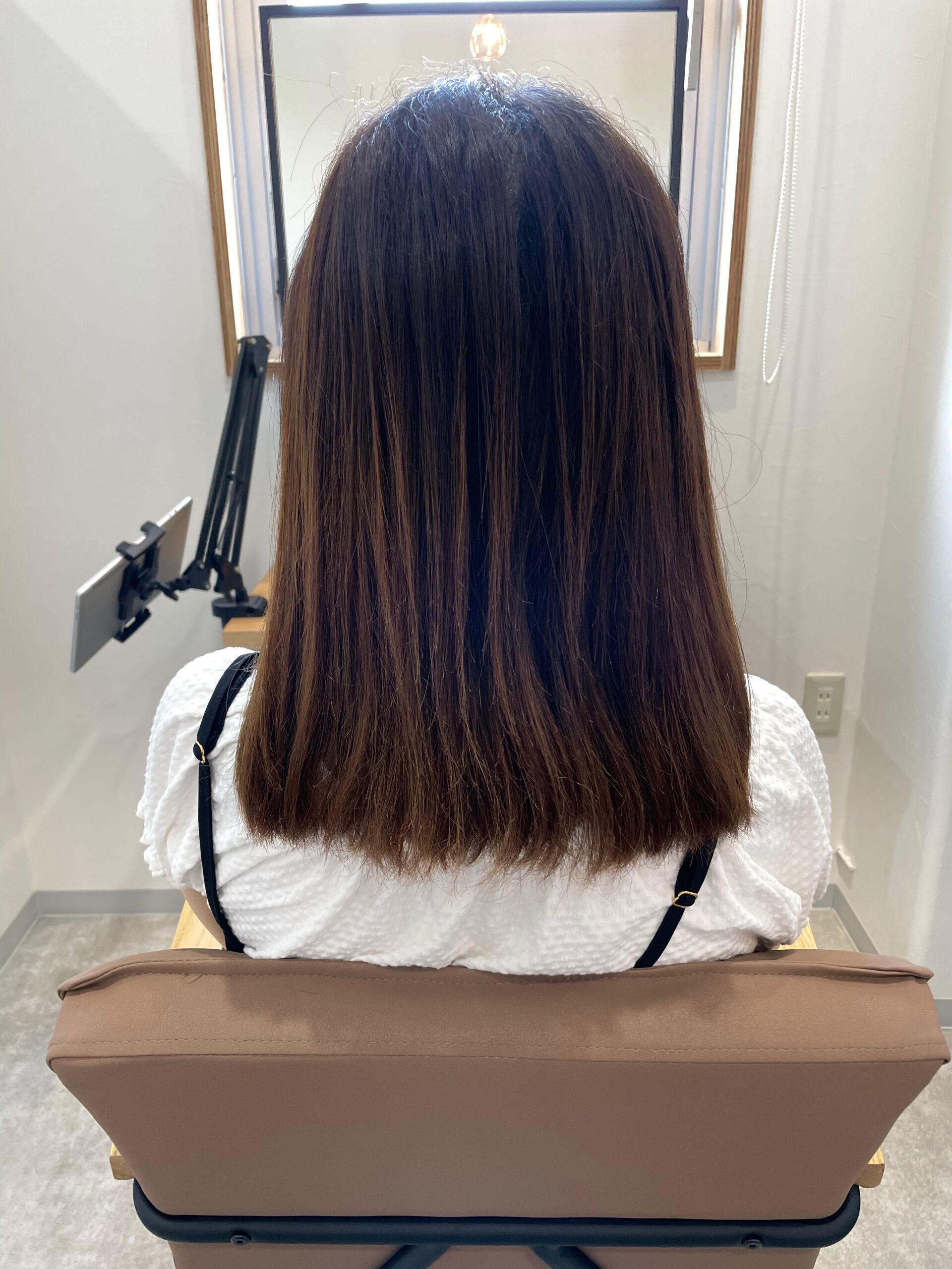 大分県別府市 弱酸性の縮毛矯正でハイダメージ毛も綺麗なストレートに ビフォー