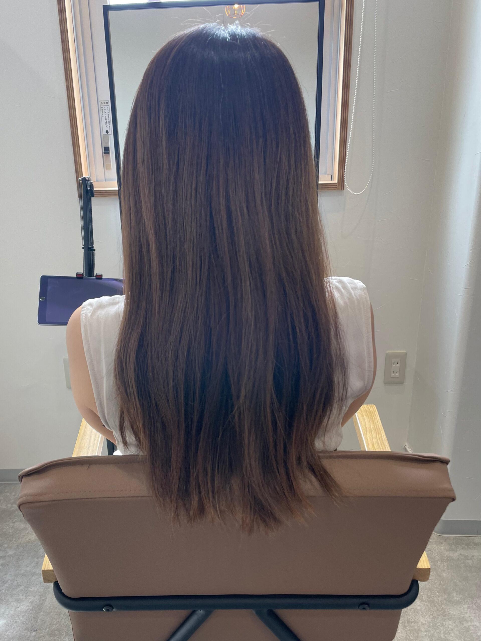 大分県別府市 暗めの髪色だけど透明感のあるヘアカラー ビフォー