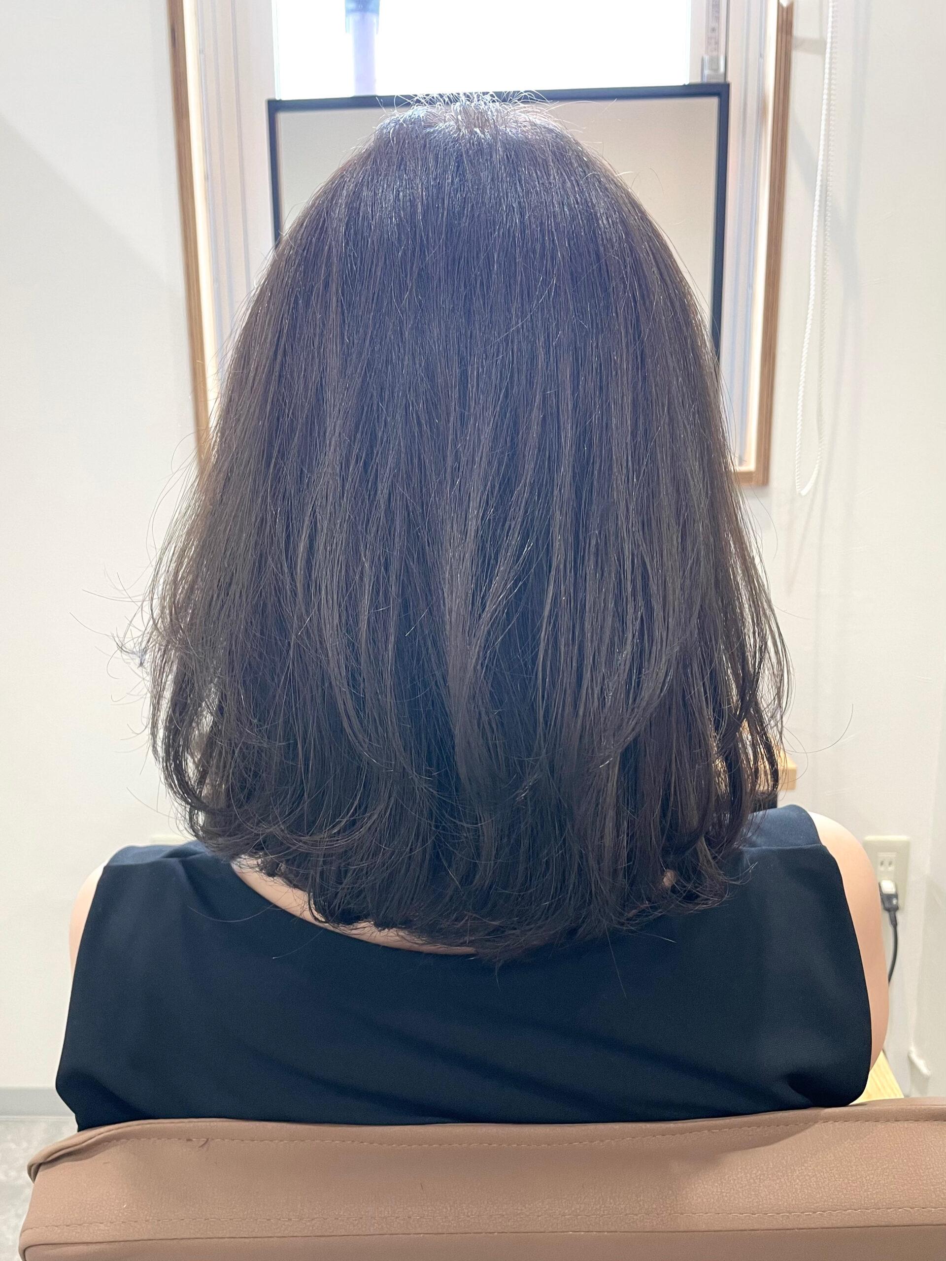 大分県別府市 オレンジっぽくなる髪色を解消『アッシュグレージュのヘアカラー』 アフター