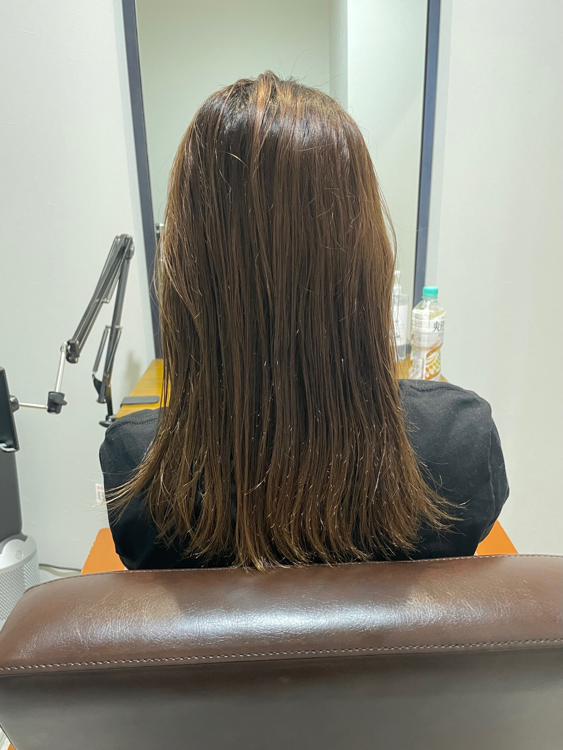 大分県別府市 髪質改善トリートメントで艶髪カラー ビフォー