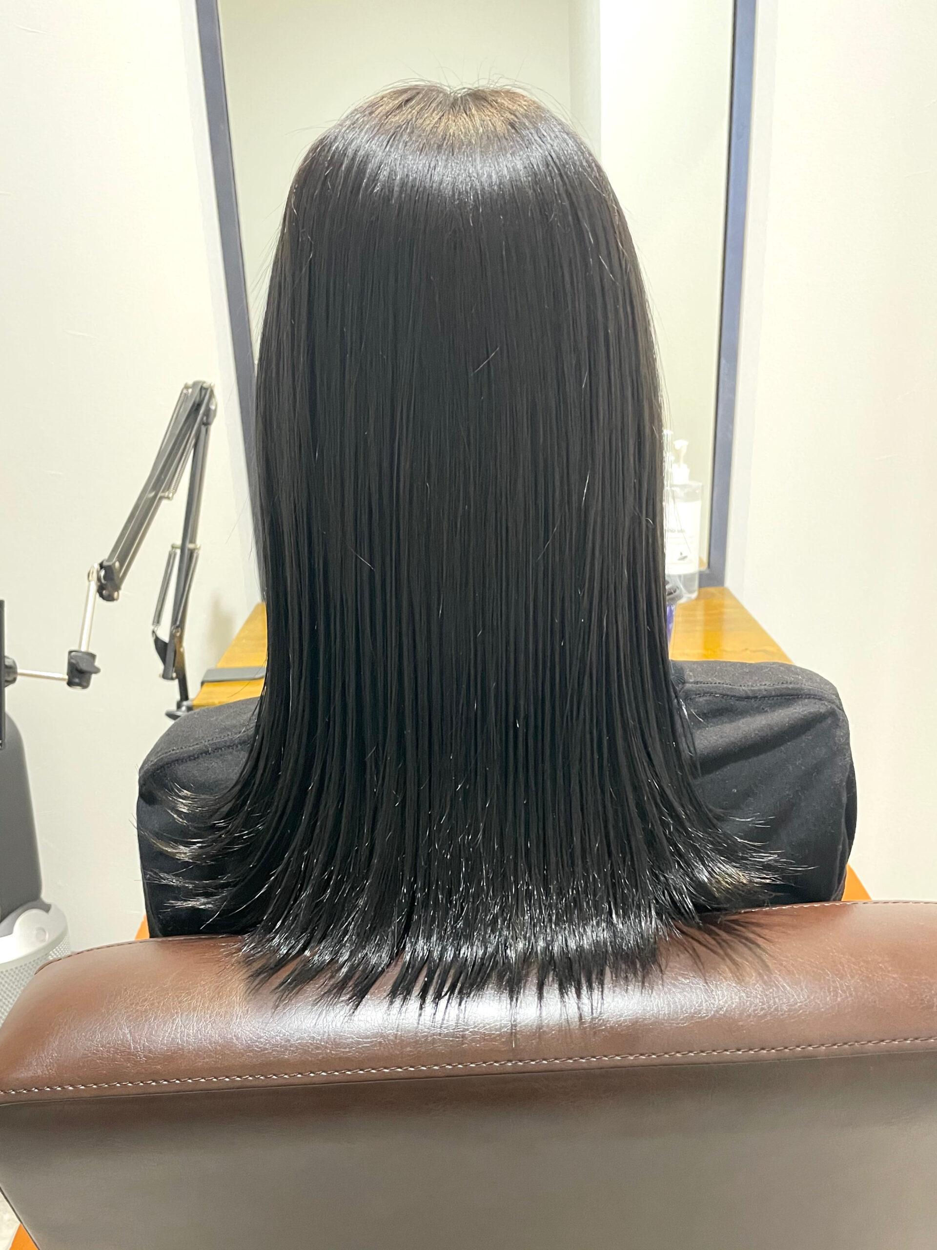 大分県別府市 髪質改善トリートメントで艶髪カラー アフター