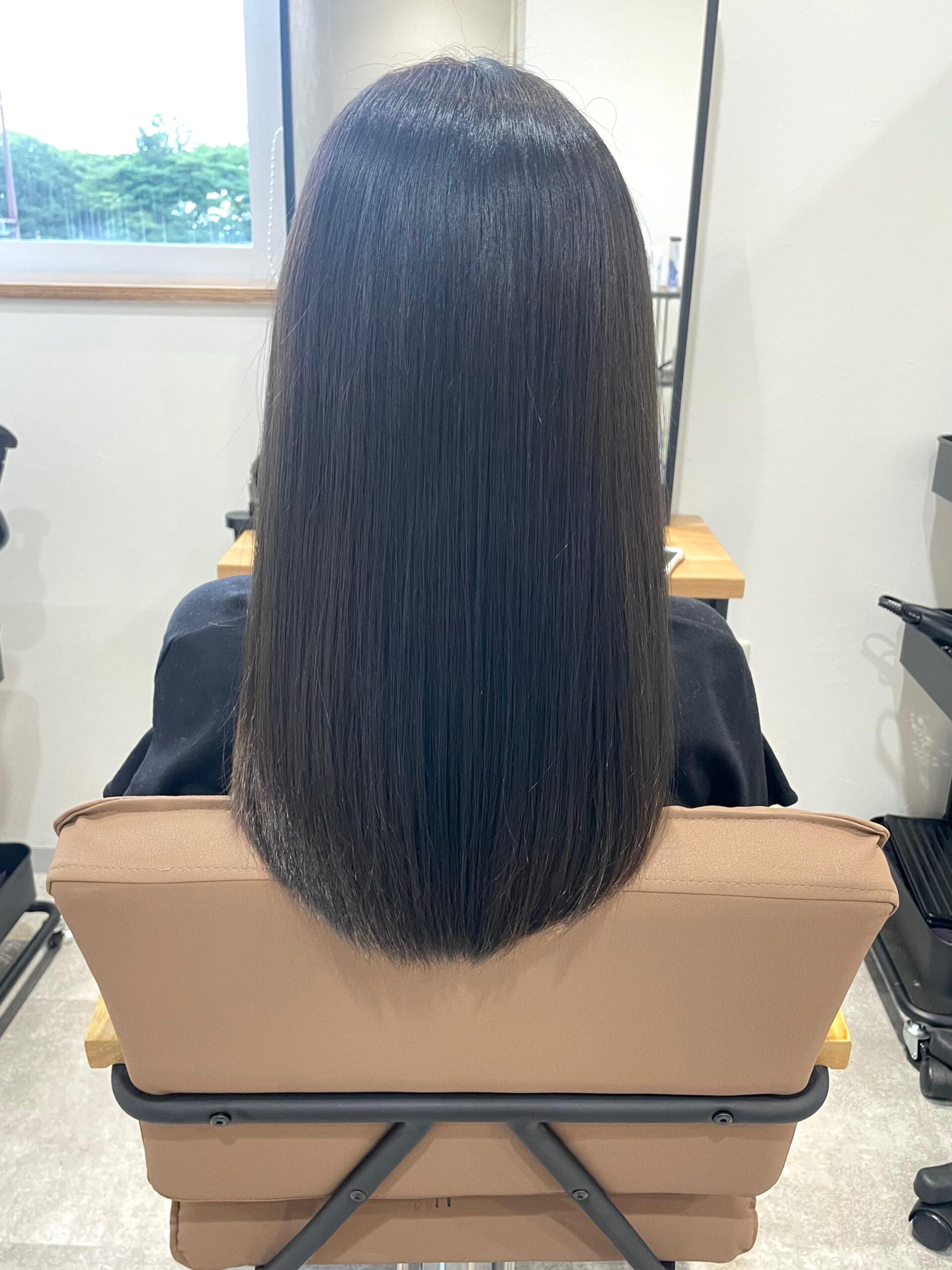 大分県別府市 オレンジみを消した透明感カラー『髪質改善トリートメント』 アフター