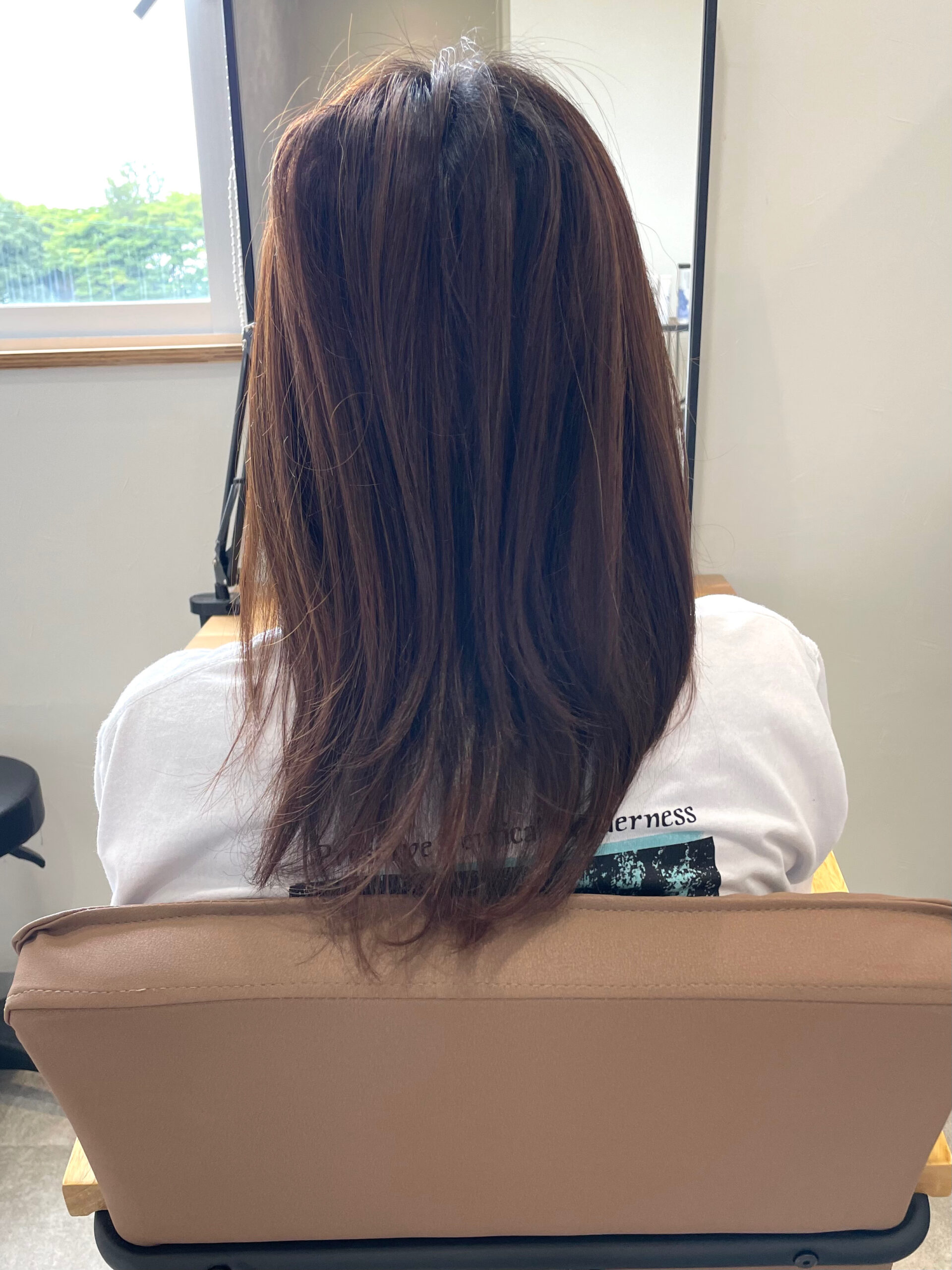 大分県別府市 明るく抜けやすい髪質の方にオススメのヘアカラー『暗めアッシュグレージュ』 ビフォー