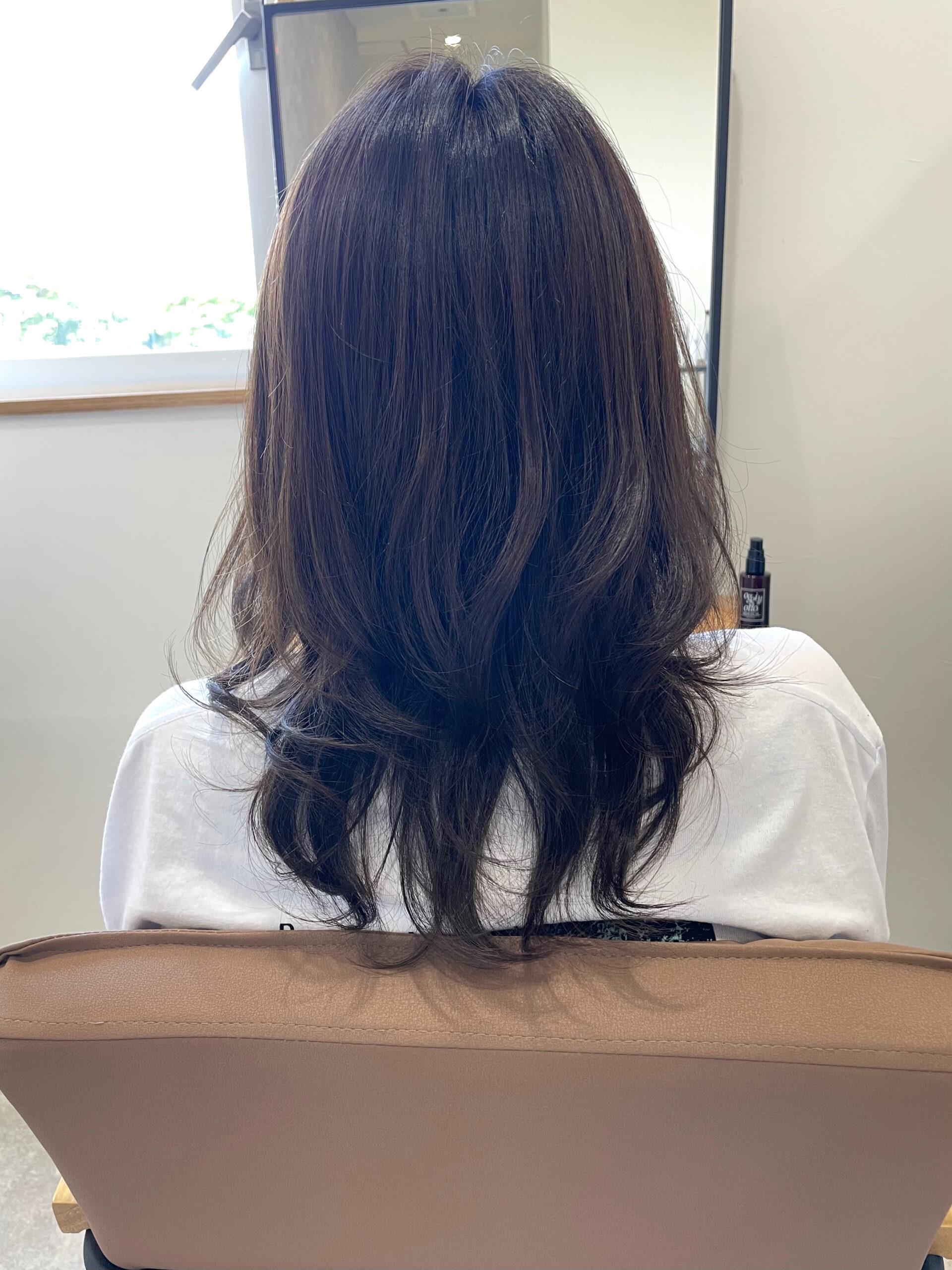 大分県別府市 明るく抜けやすい髪質の方にオススメのヘアカラー『暗めアッシュグレージュ』 アフター