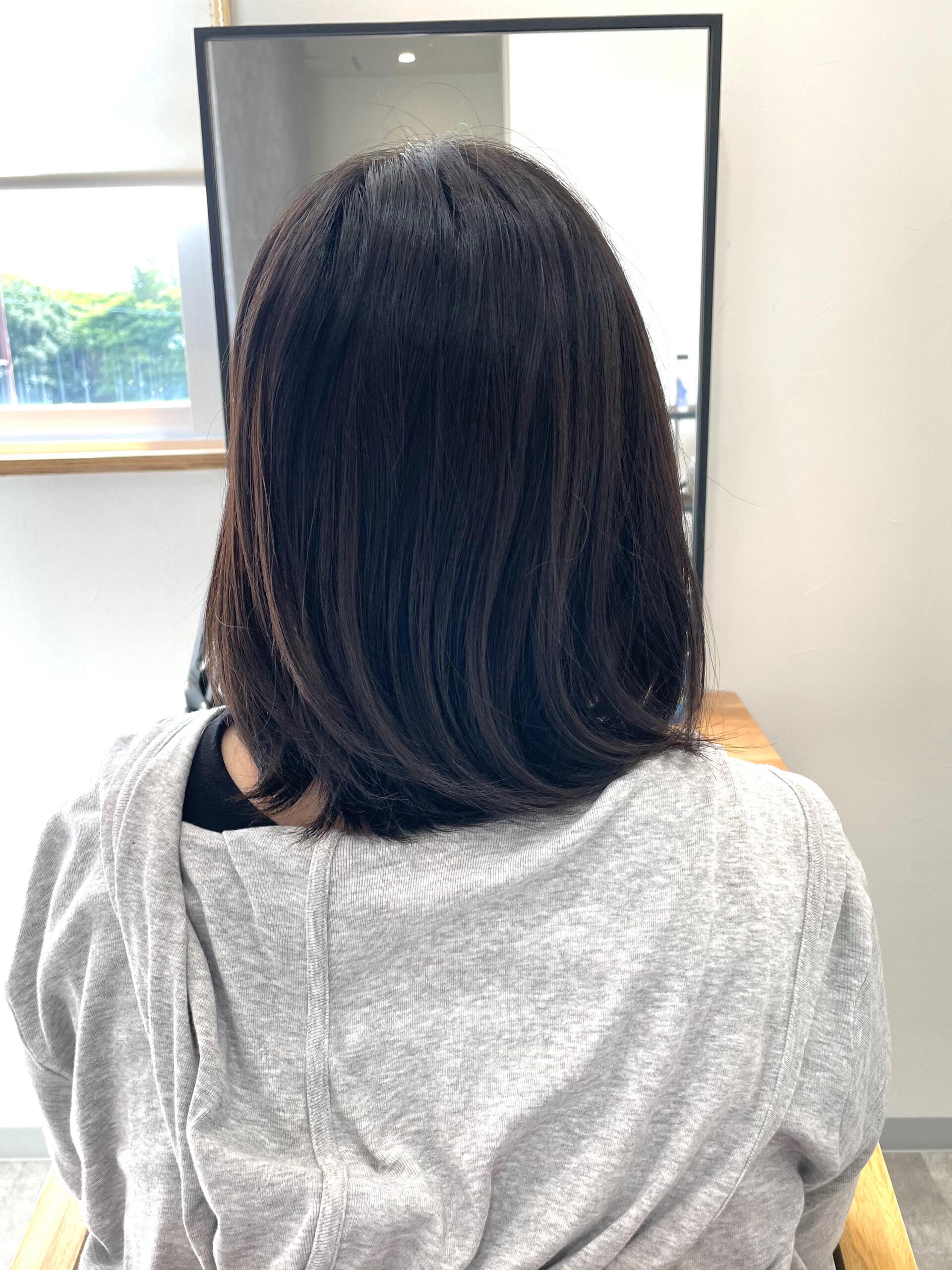 大分県別府市 弱酸性の縮毛矯正で髪質改善 ビフォー