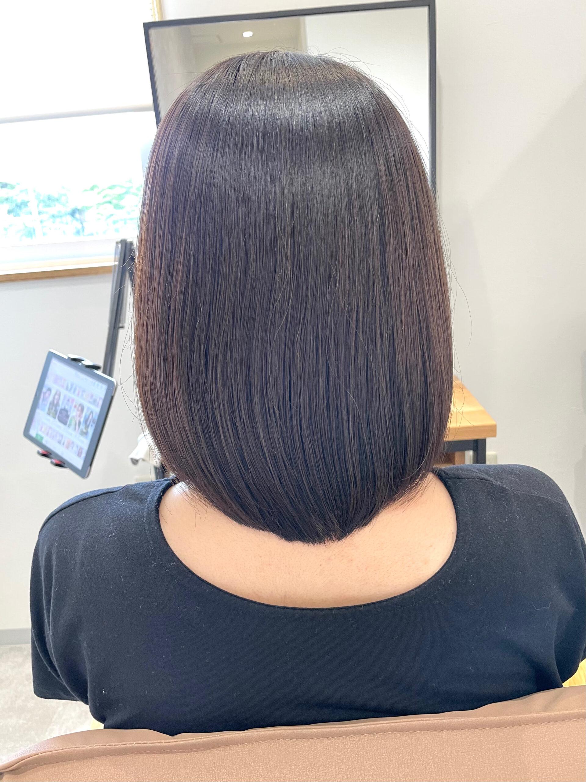 大分県別府市 弱酸性の縮毛矯正で髪質改善 アフター