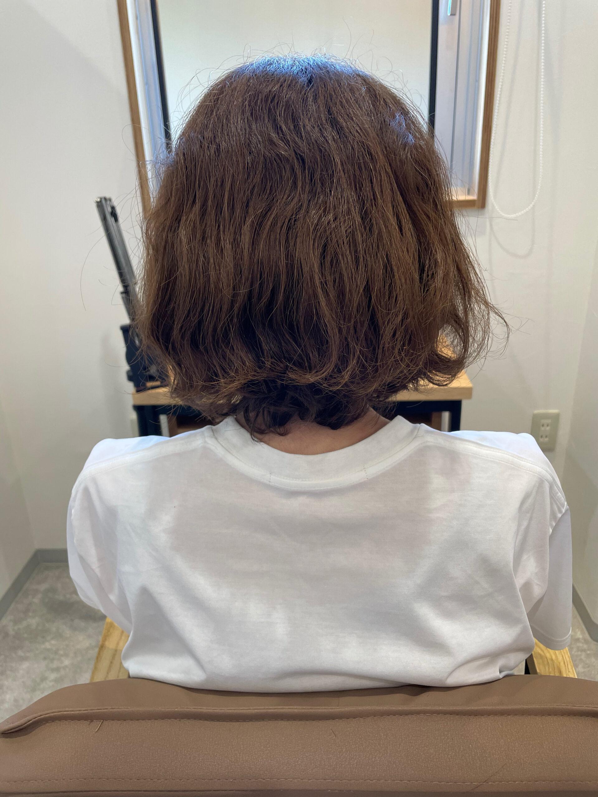 大分県別府市 弱酸性の縮毛矯正で髪質改善ストレート ビフォー